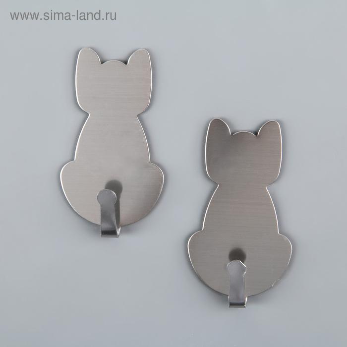 A set of hooks metal Velcro 2pcs Cat 3,5x6 cm