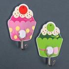 Набор крючков на липучке «Пироженки», 2 шт, цвет МИКС - фото 308330690