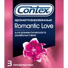 Презервативы Contex Romantic Love (ароматизированные), 3 шт. в упак.