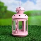 Подсвечник уличный розовый 16*9*9 см