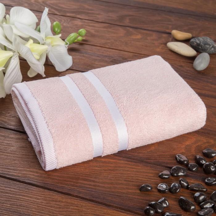"""Полотенце махровое Fiesta """"Stripie"""" 50х90 см, розовый, 100% египетский хлопок, 500гр/м2"""