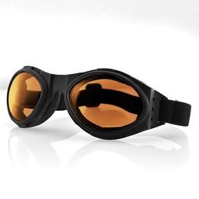 Очки Bugeye чёрные с янтарными линзами Ош