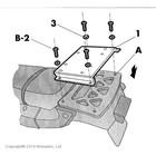 Крепление верхнего кофра SHAD AFRICA TWIN 750 - 91/03 /TRANSALP XL600V - 91/99