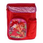 Рюкзак детский, 1 отдел, 2 наружных кармана, цвет красный