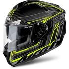 Шлем интеграл St 701 черно-желтый карбоновый, M