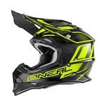 Шлем кроссовый 2Series MANALISHI чёрно-желтый флуоресцентный, XL
