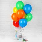 """Воздушные шары """"С днем рождения"""", хлопушка, открытка, лента, 13 предметов в наборе"""