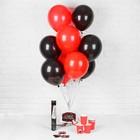 """Воздушные шары """"Девичник"""", стаканчики, хлопушка, наклейки, красный, 19 предметов в наборе - фото 308469636"""
