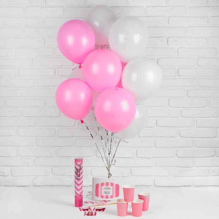 Воздушные шары «Девичник» (хлопушка, стаканчики, наклейки, значки) 26 предметов в наборе - фото 308469640