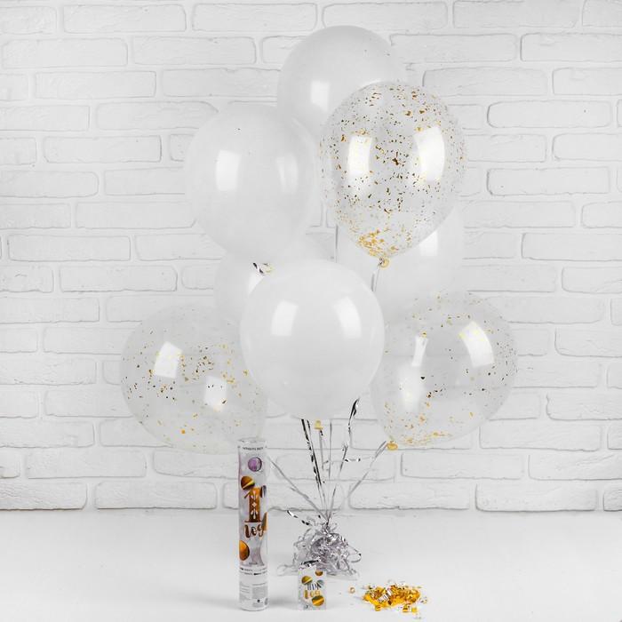 """Воздушные шары """"1 годик"""", хлопушка, открытка, лента, 13 предметов в наборе - фото 308469650"""