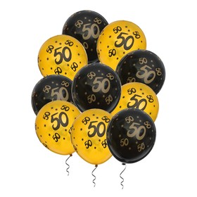 "Balloon latex 12"" ""50"", set of 10 PCs"