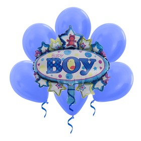 A bouquet of balloons Baby foil, latex, set of 7 PCs.