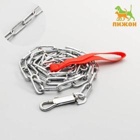 The metal leash 160 cm, welded link 3.5 x 35 mm