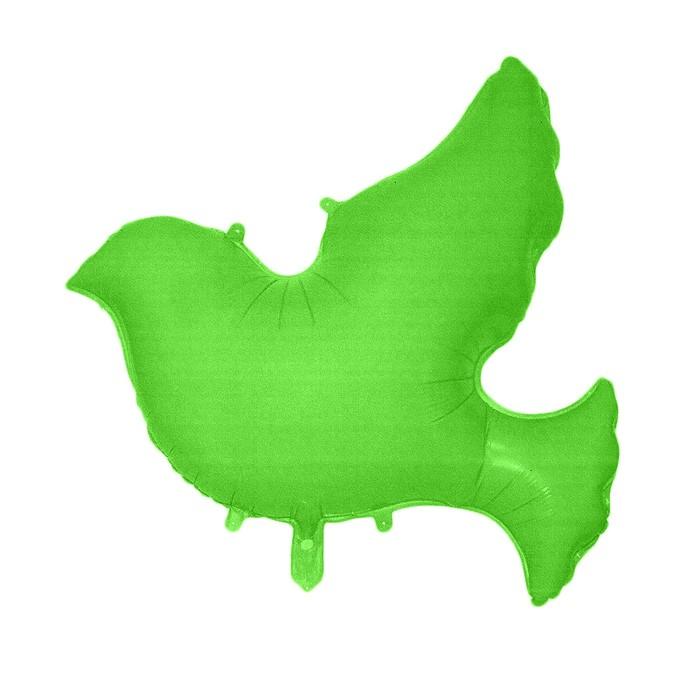 """Шар фольгированный 34"""" """"Голубь"""", цвет зеленый - фото 308473683"""