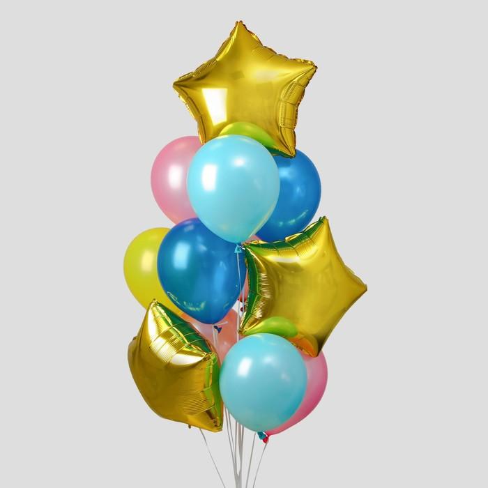 Букет из шаров «Нежность», латекс макарун, фольга, набор 12 шт. - фото 308469657