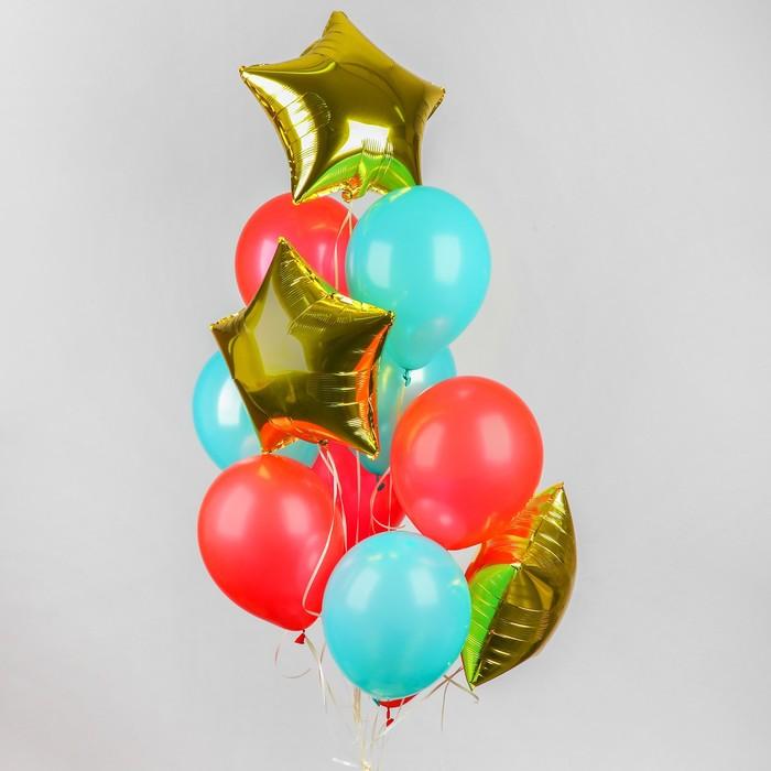 Букет из шаров «Воздушный», латекс макарун, фольга, набор 12 шт. - фото 308469661