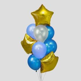 "A bouquet of balloons ""the Cloud"", latex macaron, foil, set of 12 PCs"