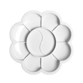 Палитра 'Ромашка', белая, 8 отделений для красок и 2 отделения для смешивания Ош