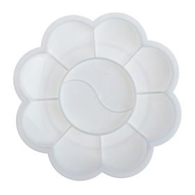 Палитра «Цветочек», 9 ячеек, «Ромашка», белая Ош