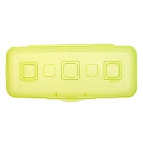 Пенал пластиковый футляр 90х210х40 мм 'Премиум', лимонный Ош
