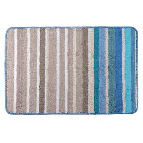 Коврик для ванной 39х60 см 'Полоски', цвет синий Ош