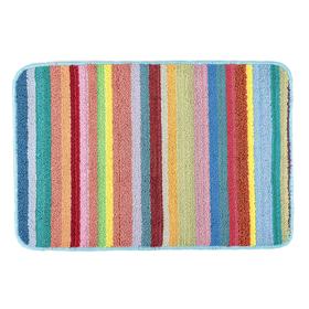 Коврик для ванной 39х60 см 'Полоски', разноцветный Ош