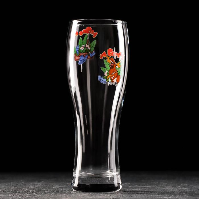 """Бокал для пива 500 мл '""""Паб Приколисты"""" , рисунок МИКС"""