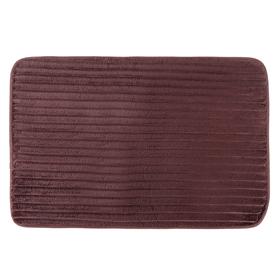 Коврик для ванной 39х58 см 'Вертикаль', цвет коричневый Ош