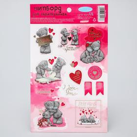 Chipboard die-cutting for scrapbooking with foiling