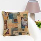 """Pillow case decorative Ethel """"Royal cell"""" 40×40 cm, density 280 g/m2, 30% cotton, 70% p/e"""