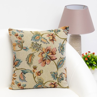 """Pillow case decorative Ethel """"Flower garden"""" 40 x 40 cm, density 280 g/m2, 30% cotton, 70% p/e"""
