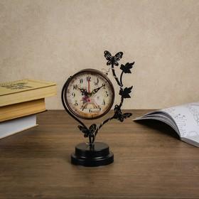 """Часы настольные """"Бабочки"""", с маленькими фонариками, 17х9х25 см"""