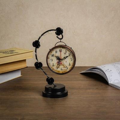 """Часы настольные """"Розочки"""", с маленькими фонариками, 17х9х25 см"""