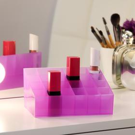 Органайзер для хранения косметических принадлежностей, 24 секции, цвет МИКС Ош