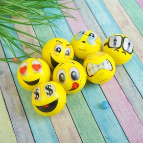 Мяч «Смайлы», мягкий, 4,5 см, виды МИКС в Донецке