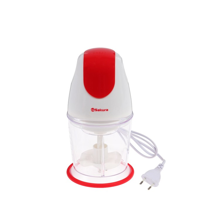 Чоппер Sakura SA-6232R, 350 Вт, 0.6 л, 2 насадки, красный