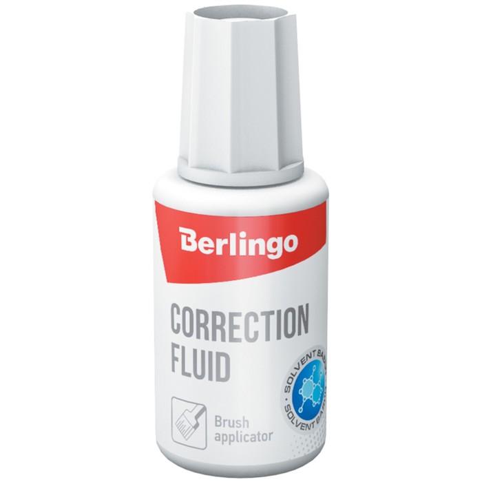 Корректирующая жидкость 20 мл Berlingo, на химической основе, с кисточкой *