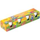 Пальчиковые краски Мульти-Пульти «Приключения Енота» 4 цвета по 35 мл, для малышей 1+