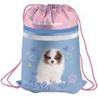 Мешок для обуви на стяжке шнурком Berlingo Puppy, с карманом на молнии, светоотражающая полоса
