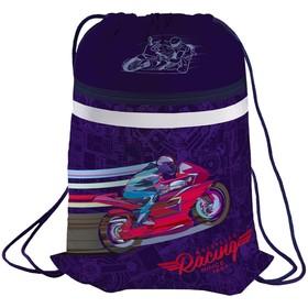 Мешок для обуви 1 отделение Berlingo 'Sportbike', карман на молнии, светоотражающая полоса Ош
