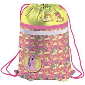 Мешок для обуви 1 отделение Berlingo 'Unicorn', карман на молнии, светоотражающая полоса Ош