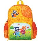 Рюкзак школьный на молнии, 1 отдел, 3 наружных кармана Мульти-Пульти «Енот и Белочка»