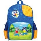 Рюкзак школьный на молнии, 1 отдел, 3 наружных кармана Мульти-Пульти «Енот-футболист»
