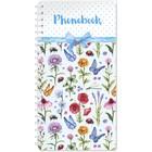 Телефонная книга на гребне А5, 80 листов OfficeSpace «Цветы», с высечкой
