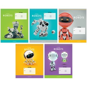 Тетрадь 12л., клетка ArtSpace 'Роботы. Cool robots' Ош