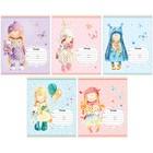 Тетрадь 12 листов линейка ArtSpace «Персонажи». Lovely dolls