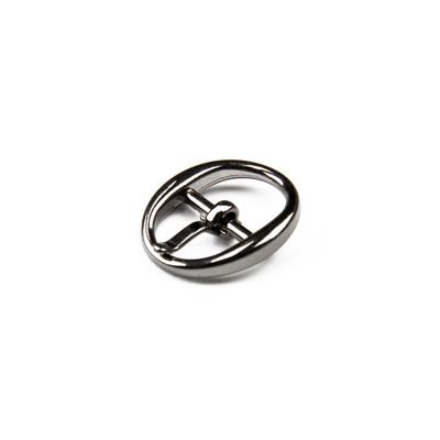 Пряжка для босоножек, 8 мм, цвет тёмный никель