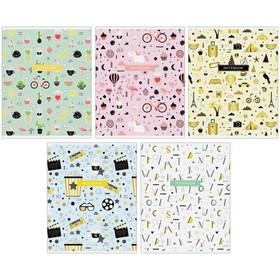 Тетрадь 48 листов в клетку «Узоры.Милые паттерны», обложка мелованный картон, блок офсет, МИКС