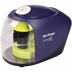 Точилка электрическая 1 отверстие Berlingo SystemX, с контейнером