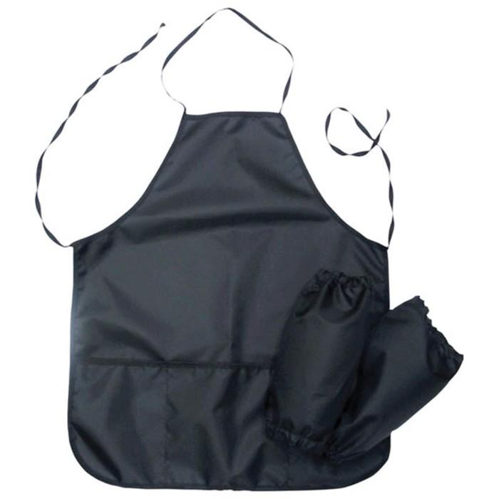 Фартук для труда + нарукавники ArtSpace, 3 кармана, чёрный